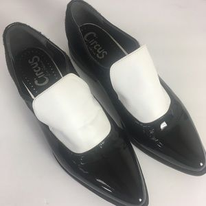 Circus Farrah Patent Leather/Pony Hair Oxfords